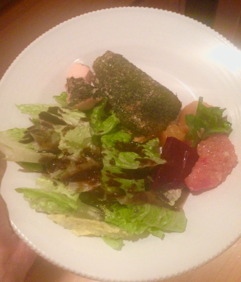 Dill salmon with beets