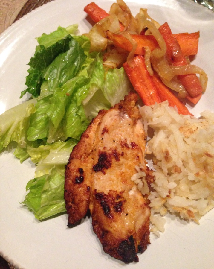 Re-creating potatoes, carrots,chicken
